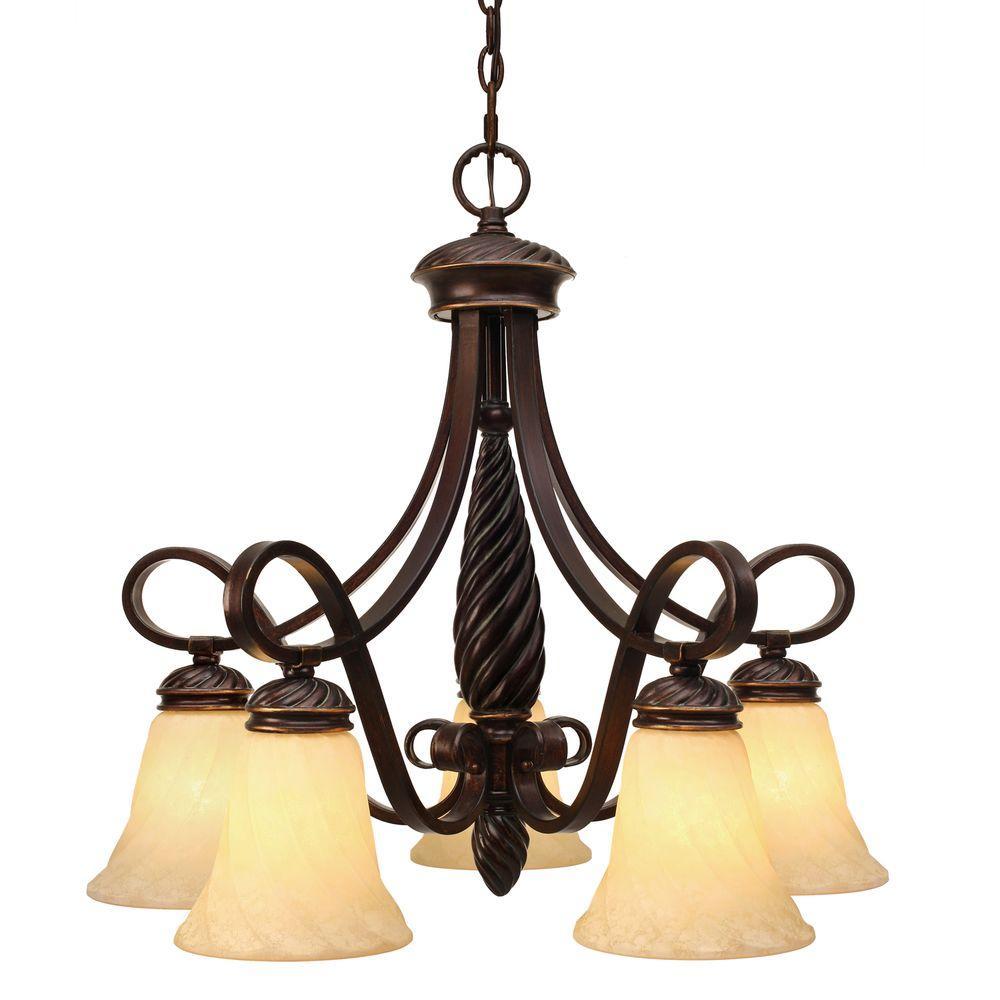 Laurent Collection 5-Light Cordoban Bronze Nook Chandelier
