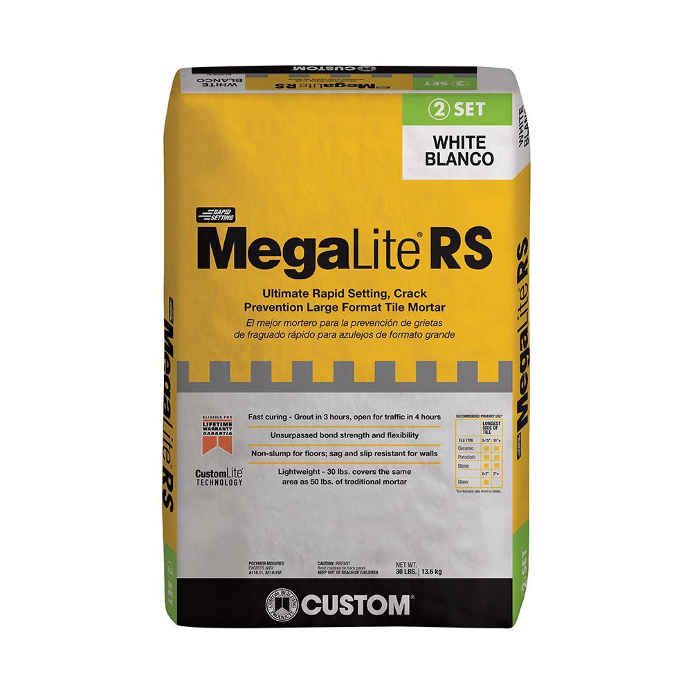 MegaLite 30 lb. White Rapid Setting Crack Prevention Mortar