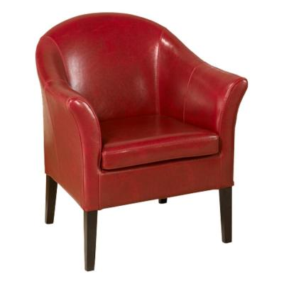 1404 Red Bonded Leather Club Chair