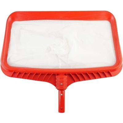 20 in. Cherry Red Deluxe Pro-Series Deep-Bag Swimming Pool Leaf Rake Skimmer Head