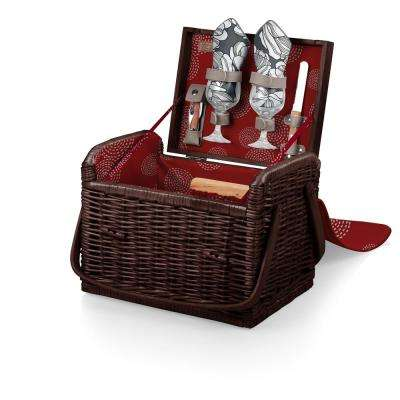 Harmony Collection Kabrio Willow Wine and Cheese Basket