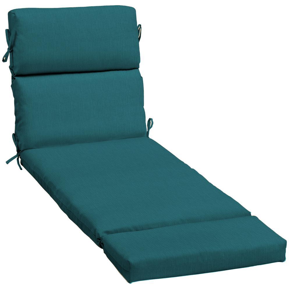 23 x 73 Sunbrella Spectrum Peacock Outdoor Chaise Lounge Cushion