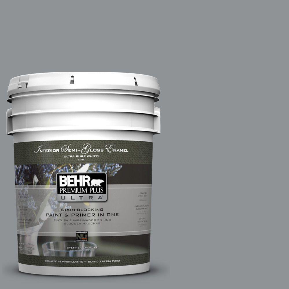 5-gal. #770F-4 Gray Area Semi-Gloss Enamel Interior Paint