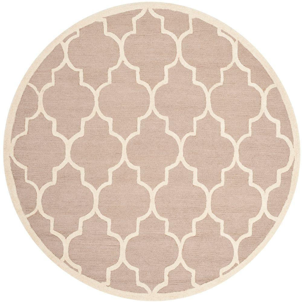 Safavieh Cambridge Beige Ivory 10 Ft X 10 Ft Round Area