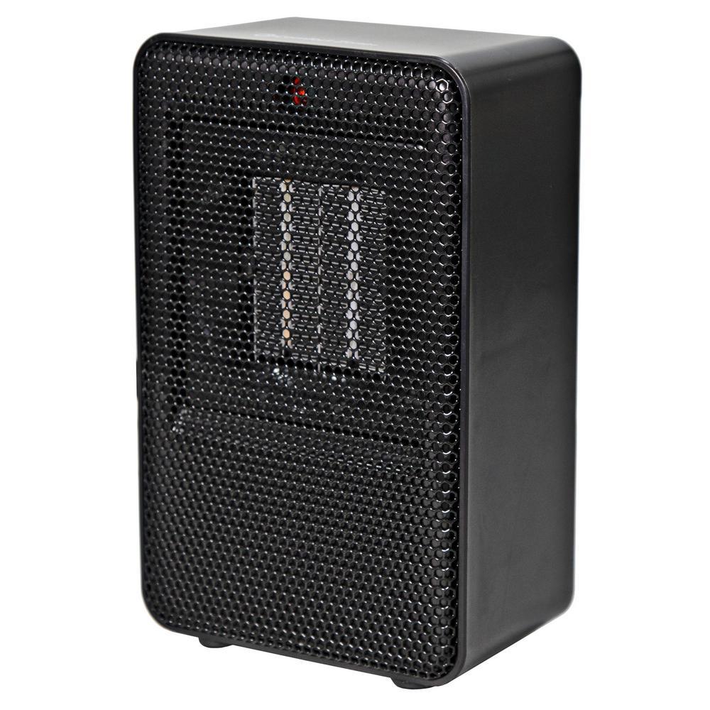 Personal Desktop Ceramic Heater, Black