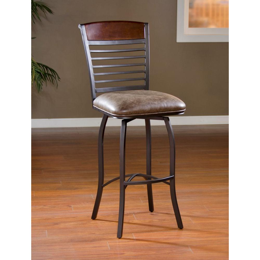 American Heritage Stefano 26 In Coco Cushioned Bar Stool