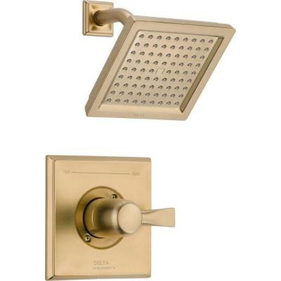 Dryden 1-Handle 1-Spray Raincan Shower Faucet Trim Kit in Champagne Bronze (Valve Not Included)