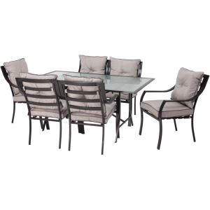 Hanover Lavallette 7-Piece Patio Outdoor Dining Set by