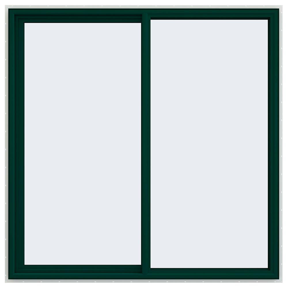 59.5 in. x 59.5 in. V-4500 Series Left-Hand Sliding Vinyl Window