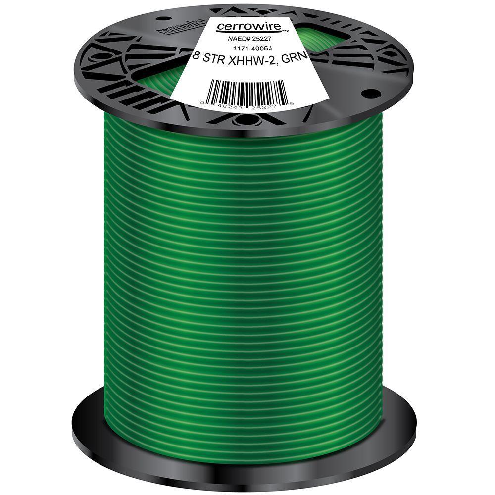 Cerrowire 500 Ft 8 1 Stranded Xhhw 2 Wire Green 1171