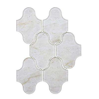 Nature Swag Crema Marfil 9 in. x 12 in. Glass Mosaic Tile