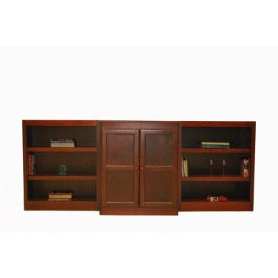 3-Piece Cherry Wall and Storage System (8-Shelves)