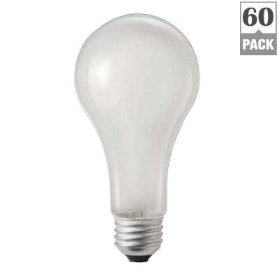 100-Watt A21 Incandescent 250-Volt Rough Service Frosted Light Bulb (60-Pack)
