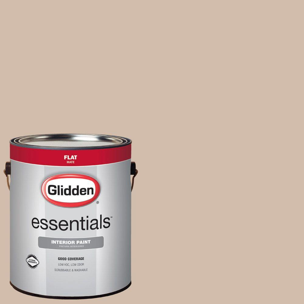Glidden Essentials 1 Gal Hdgwn02d Desert Sand Flat Interior Paint Hdgwn02de 01fn The Home Depot
