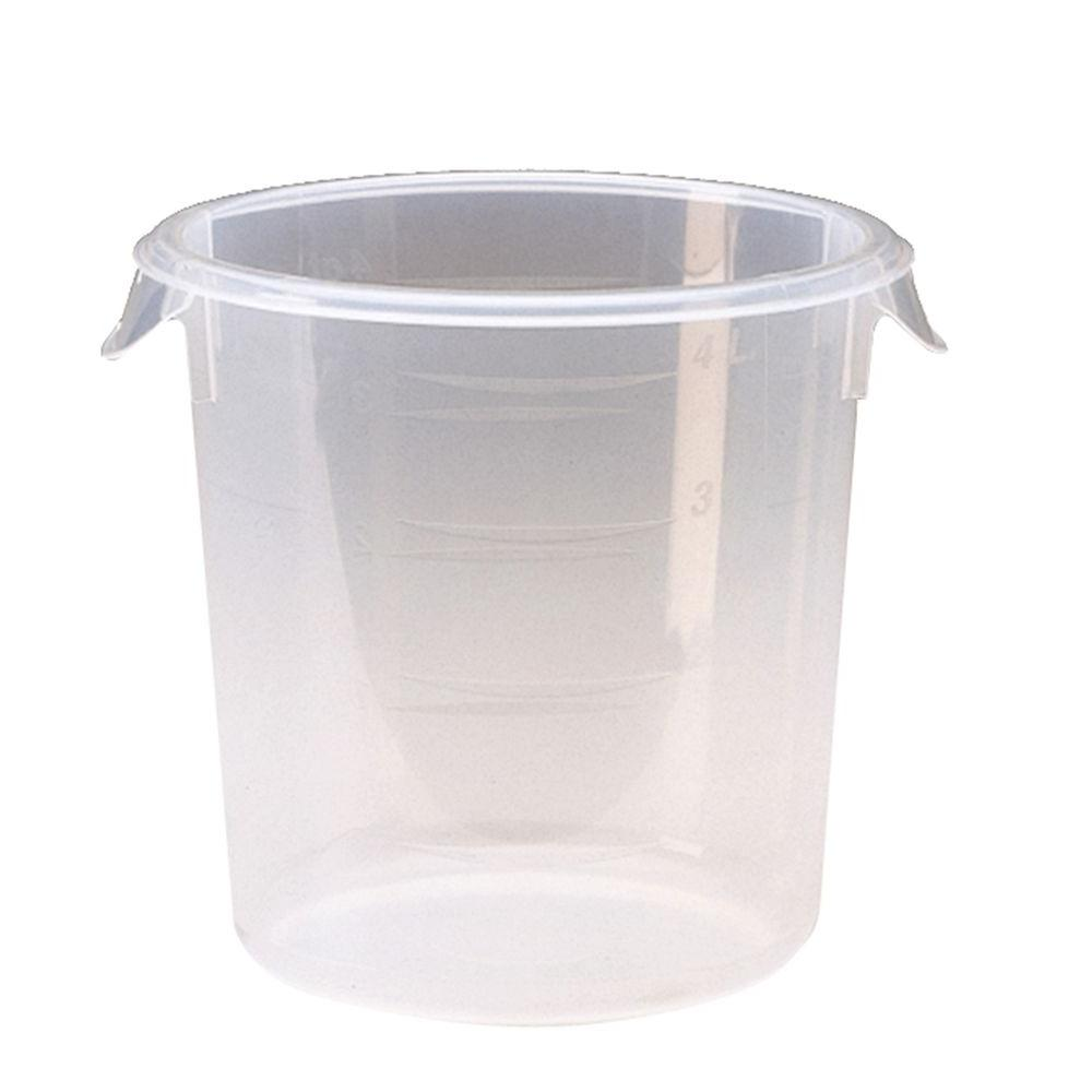 Rubbermaid Commercial Products 4 qt Clear Round Storage Container