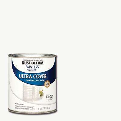 32 oz. Ultra Cover Gloss White General Purpose Paint (Case of 2)