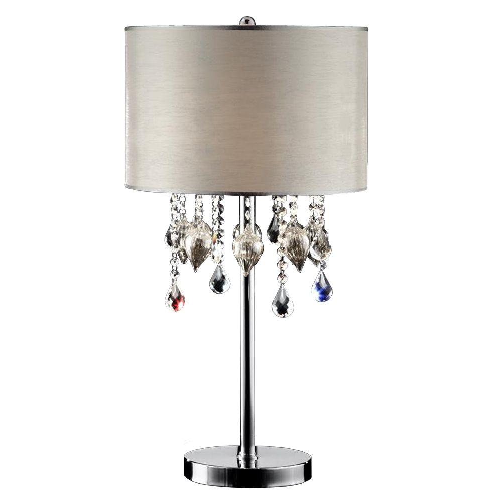 Ore International 29 In Drape Crystal Table Lamp K 5125t The Home