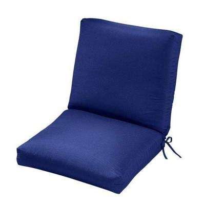 Sunbrella Blue Outdoor Dining Chair Cushion