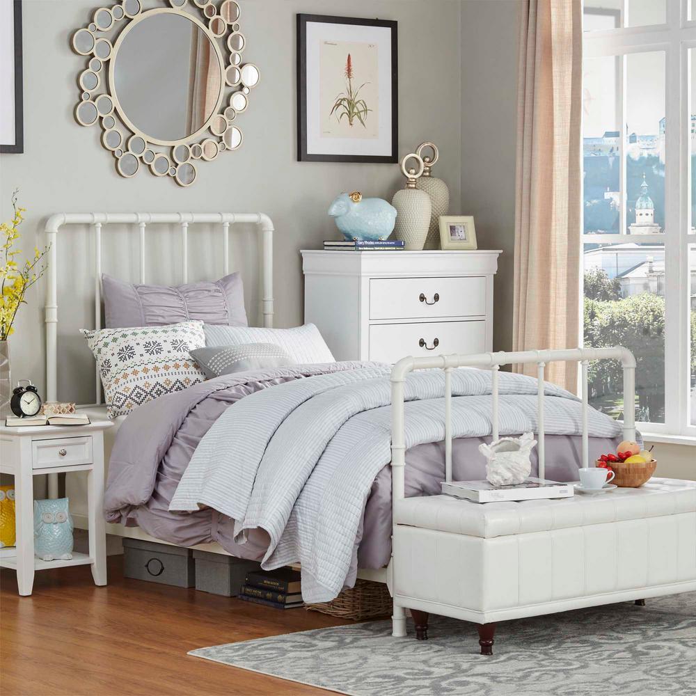 HomeSullivan Byer White Twin Bed Frame 40E422BT-1WBED