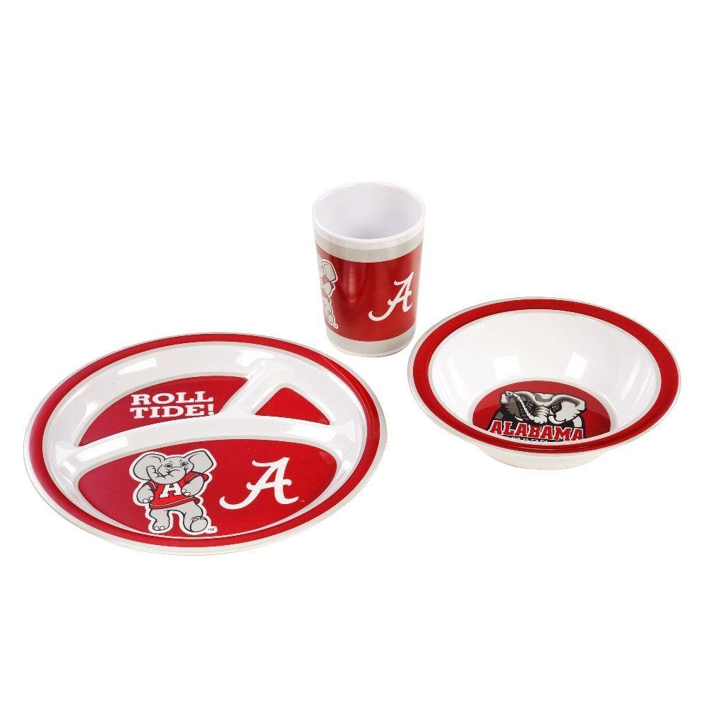 NCAA Alabama Crimson Tide 3-Piece Kid's Dish Set