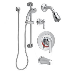 American Standard Commercial 36 inch Shower System with Hand Shower and Colony Soft Valve Only Trim in Polished Chrome by American Standard