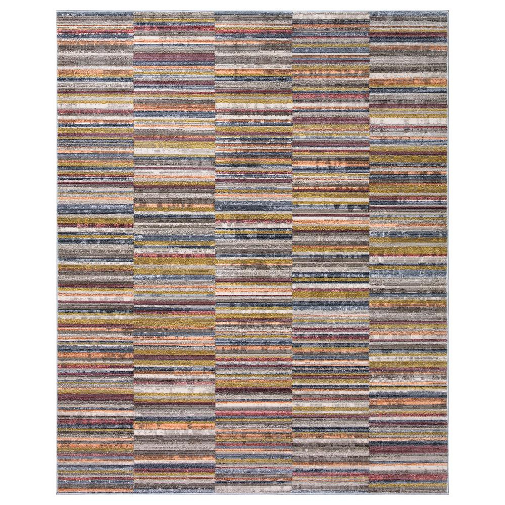 StyleWell Lorraine Multi-Color 5 ft. x 7 ft. Striped Low Pile Cotton Backed Area Rug, Multicolor was $107.52 now $64.51 (40.0% off)