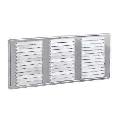 Undereave 16 in. x 8 in. Louvered Aluminum Soffit Vent in Mill (24-Pieces/Carton Only)