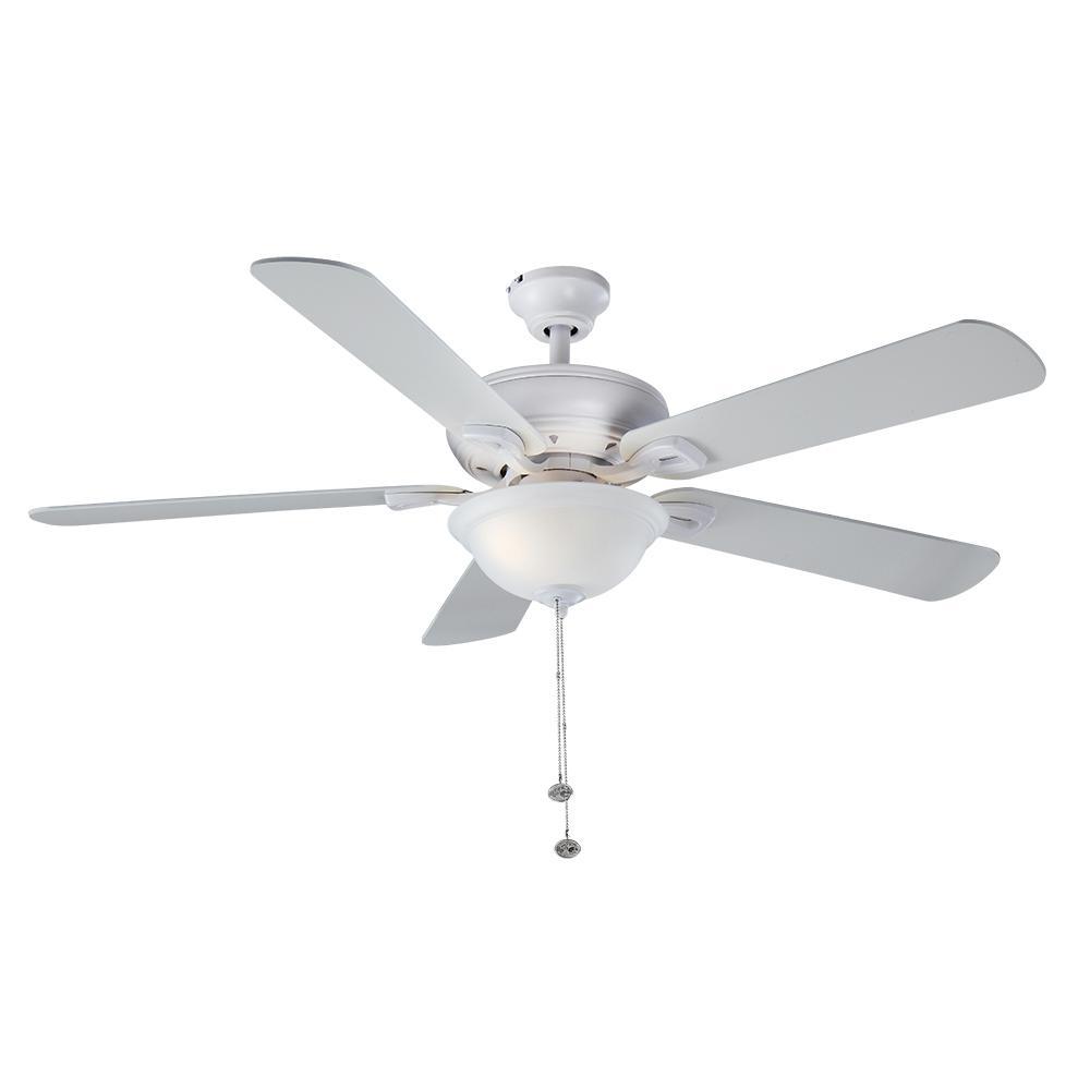 Hampton Bay Rothley 52 In Led Matte White Ceiling Fan
