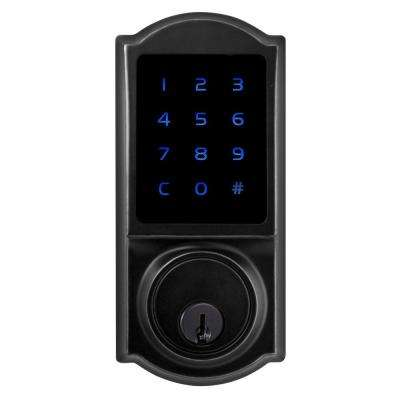 Castle Matte Black Single Cylinder Electronic Touchscreen Deadbolt