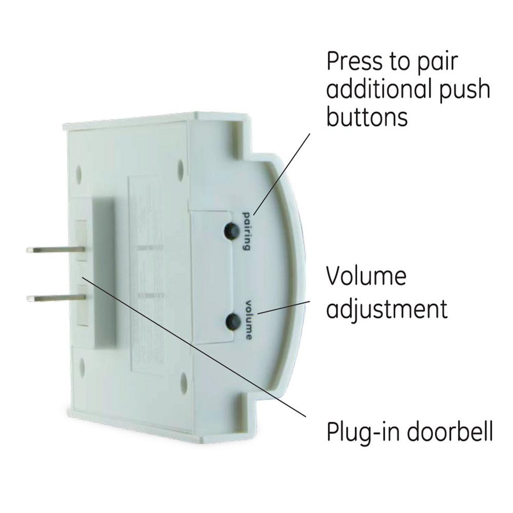 GE Plug-In Chime with 2 Melodies and 1 Push Button