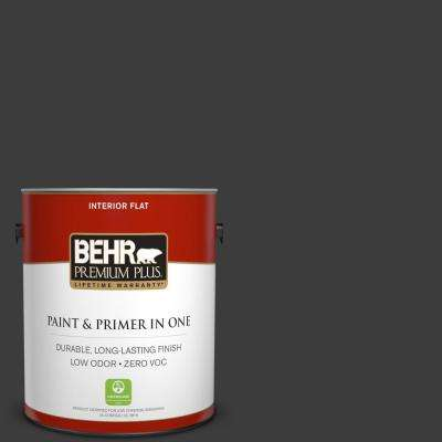 1 gal. Black Flat Low Odor Interior Paint and Primer in One