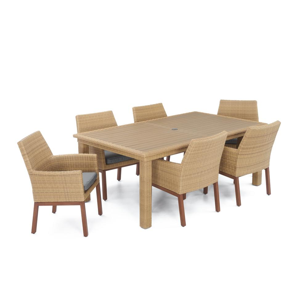 RST Brands Mili 7-Piece Wicker Outdoor Dining Set With