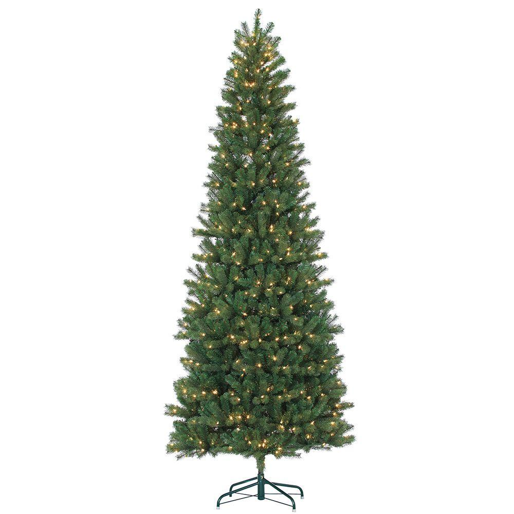 Sterling 9 Ft Pre Lit Natural Cut Slim Montgomery Pine Artificial  - Artificial Christmas Tree 9 Ft