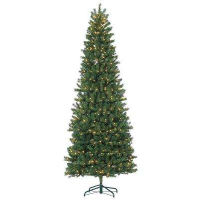 pre lit natural cut slim montgomery pine artificial christmas tree with clear - Sterling Christmas Trees