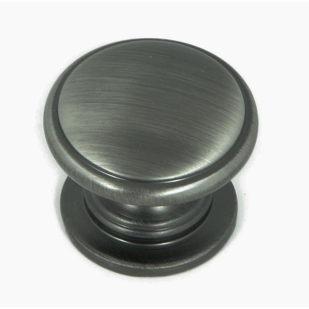 Saybrook 1-1/4 in. Weathered Nickel Round Cabinet Knob (10-Pack)