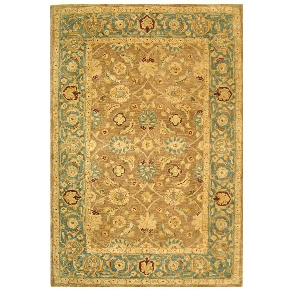 Anatolia Brown/Blue 6 ft. x 9 ft. Area Rug
