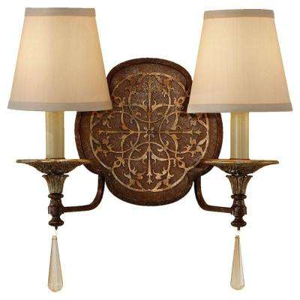 Marcella 2-Light British Bronze/Oxidized Bronze Sconce