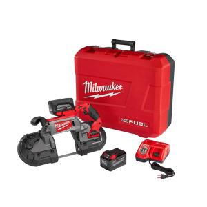 Milwaukee M18 FUEL 18-Volt Lithium-Ion Brushless Cordless Deep Cut Band Saw Kit W/(2) 9.0Ah Batteries, Rapid Charger &... by Milwaukee