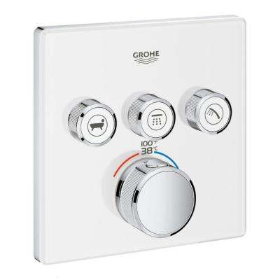 Grohtherm Smart Control Triple Function Thermostatic Trim with Control Module