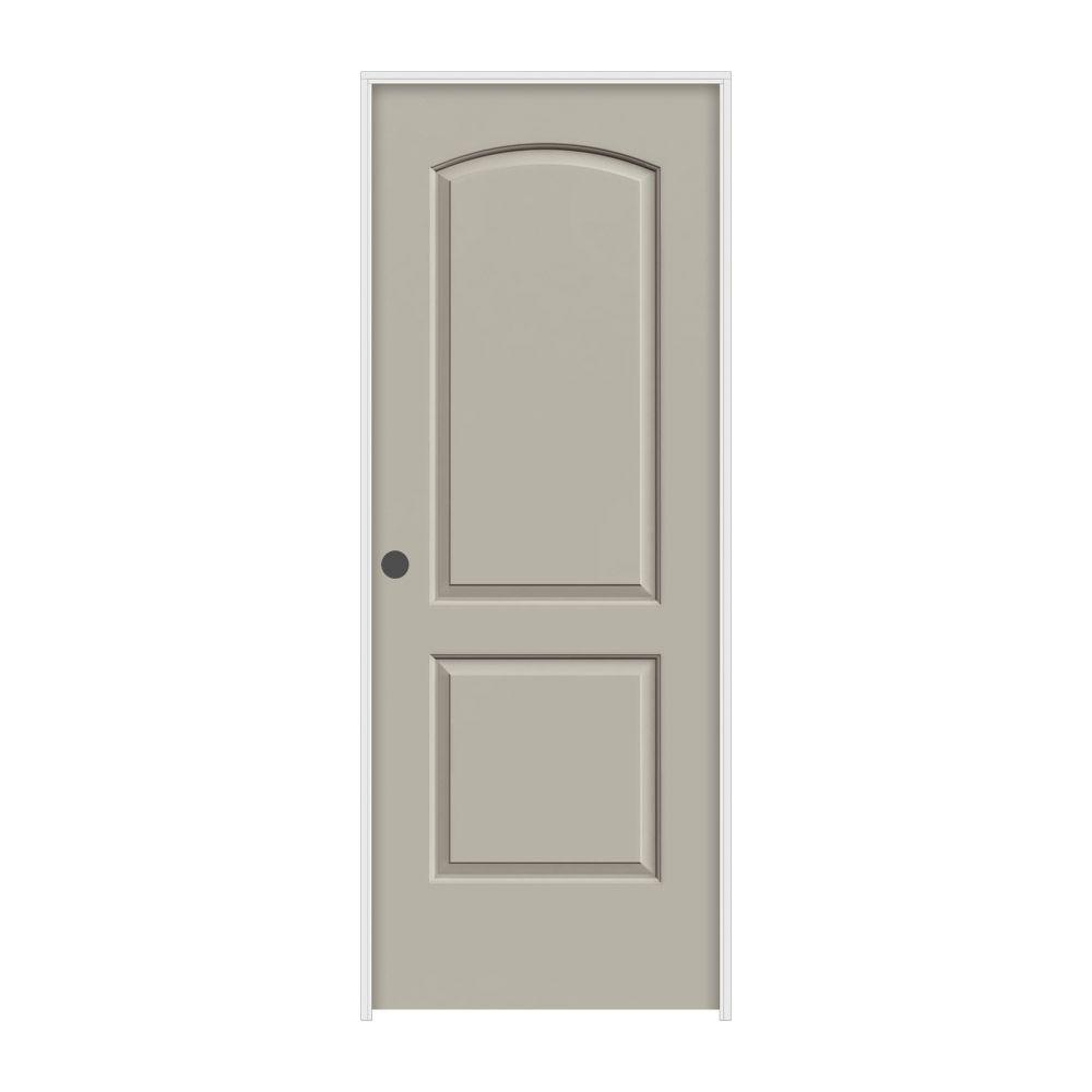 JELD-WEN 30 in. x 80 in. Continental Desert Sand Painted Right-Hand Smooth Molded Composite MDF Single Prehung Interior Door