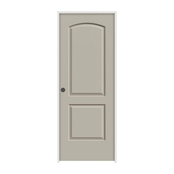 32 in. x 80 in. Continental Desert Sand Painted Right-Hand Smooth Molded Composite MDF Single Prehung Interior Door