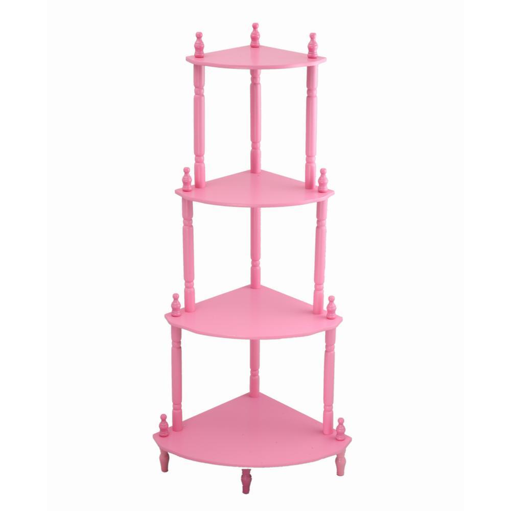 5-Shelf Pink Kid's Bookshelf