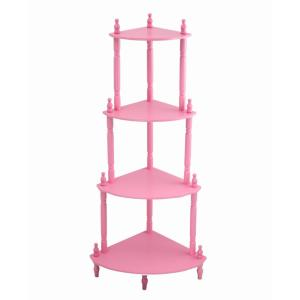 5-Shelf Pink Kid's Bookshelf