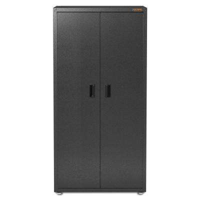 Ready-to-Assemble 72 in. H x 36 in. W x 24 in. D Steel Freestanding Garage GearCloset Cabinet in Hammered Granite