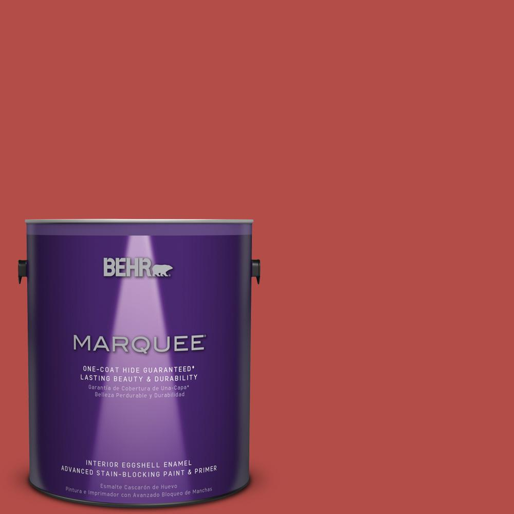 1 gal. #T17-18 Hot and Spicy Eggshell Enamel Interior Paint