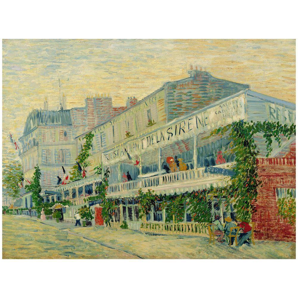 "Trademark Fine Art 26 in. x 32 in. ""Restaurant de la Sirene 1887"" Canvas Art"