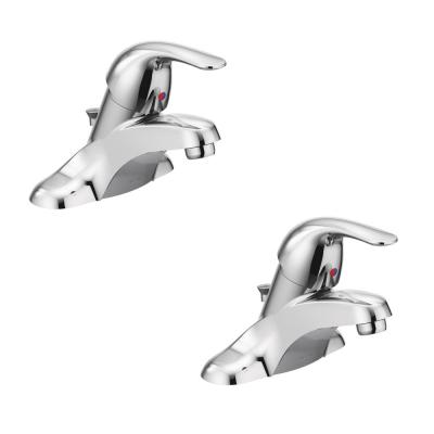 Adler 4 in. Centerset Single-Handle Bathroom Faucet in Chrome (2-Pack)
