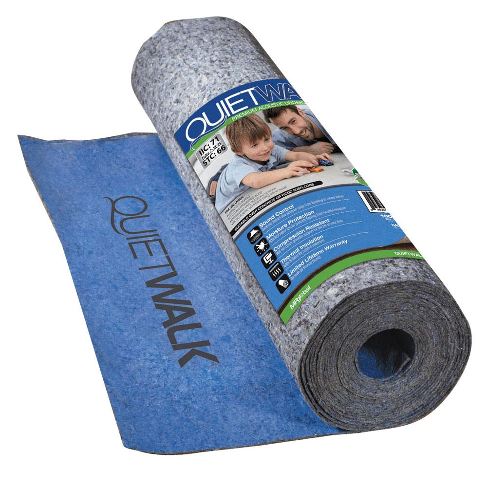 QuietWalk 360 sq. ft. 6 ft. x 60 ft. x 3 mm Underlayment w/Sound Barrier and Moisture Barrier for Laminate and Engineered Flooring