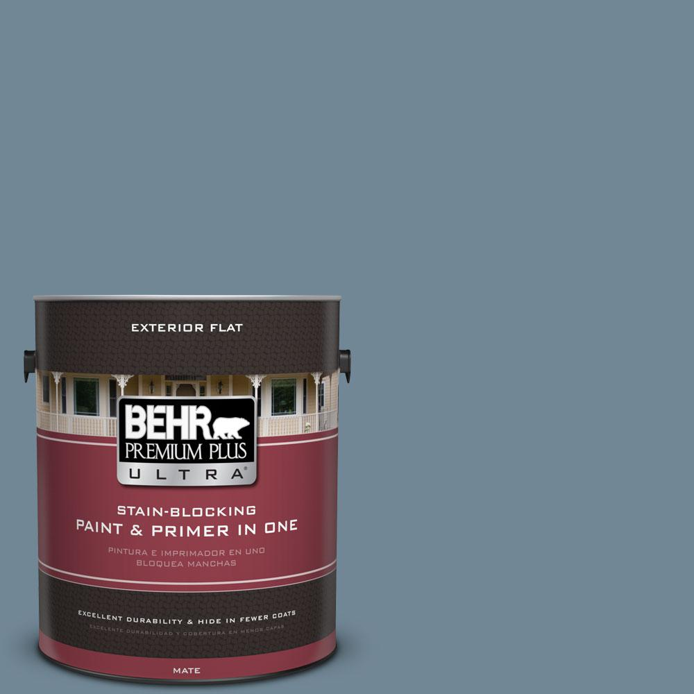 Home Decorators Collection 1-gal. #HDC-AC-24 Lyric Blue Flat Exterior Paint