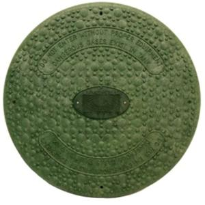 18 In Green Septic Tank Riser Cover Sfrc18g The Home Depot